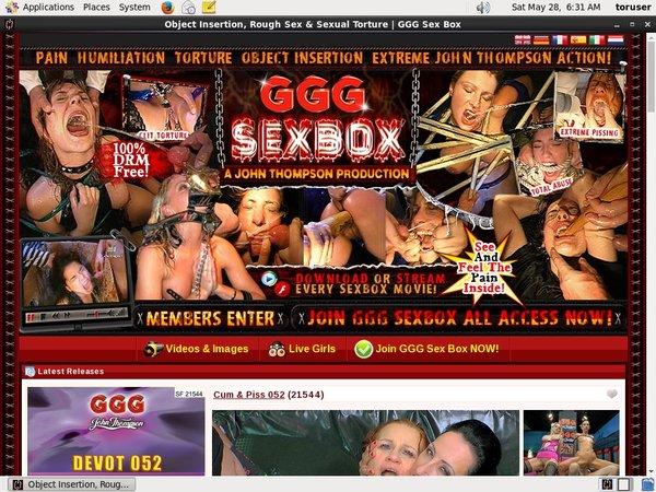 Box ggg sex ⭐ Object