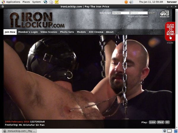 Account Free For Iron Lock Up
